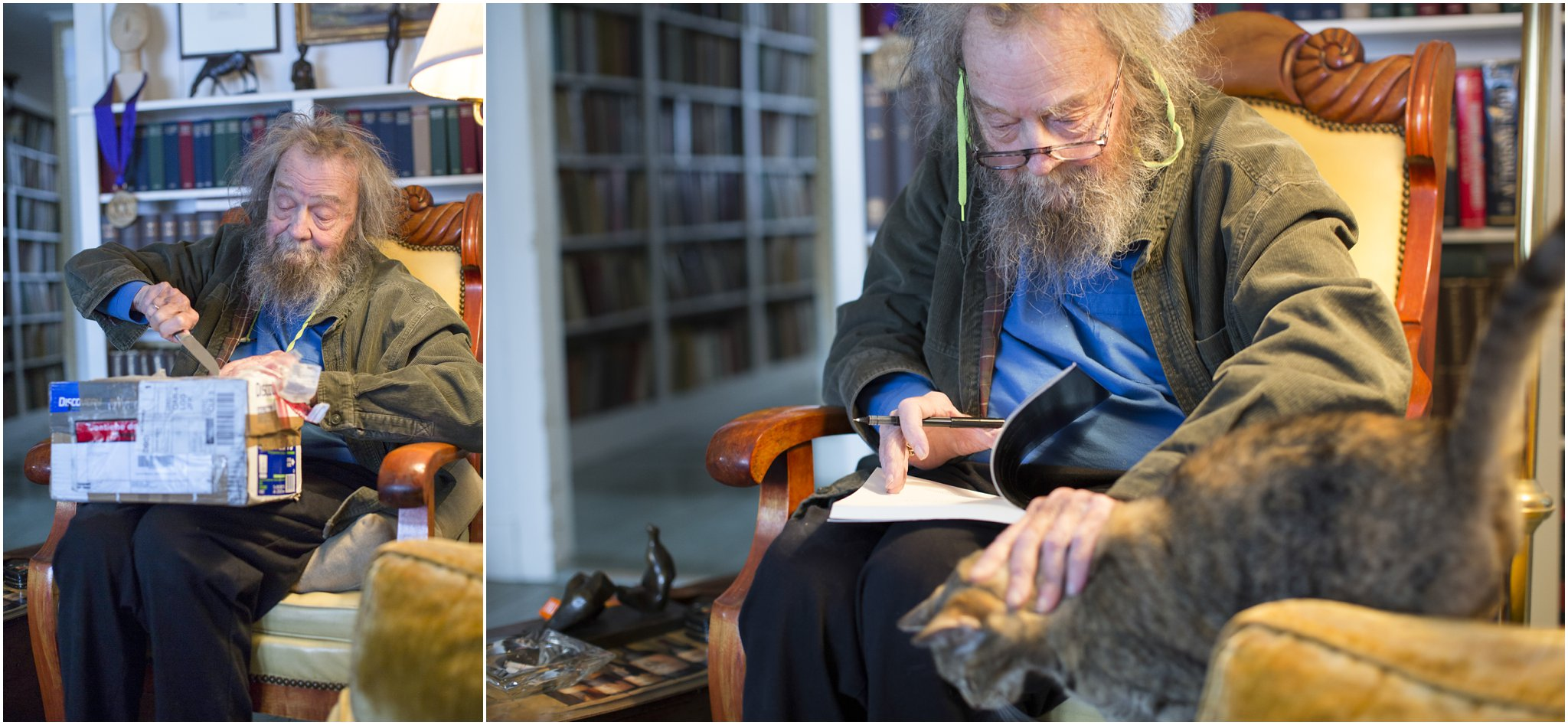 Donald Hall Fedex and Cat