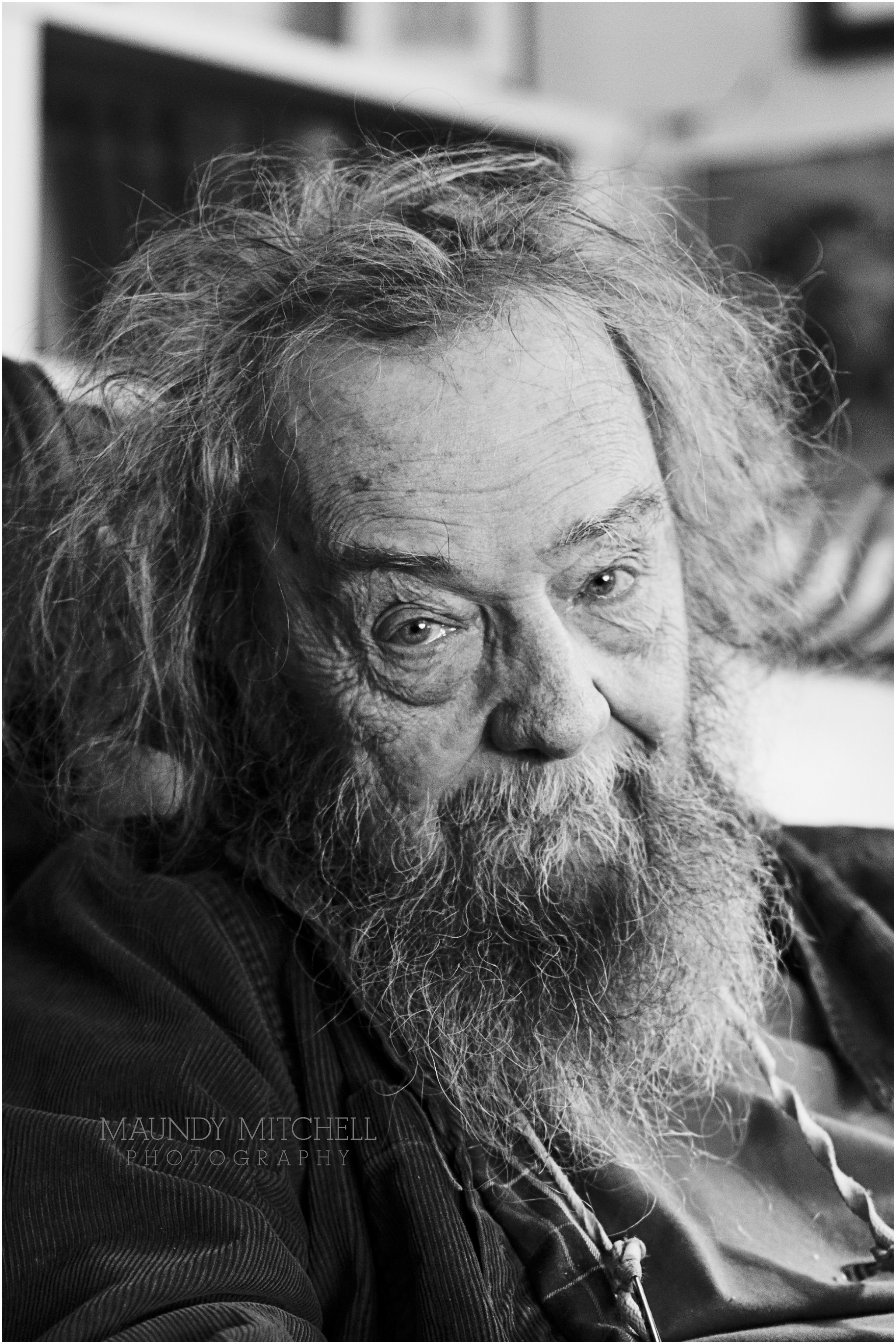 Donald Hall black & white portrait