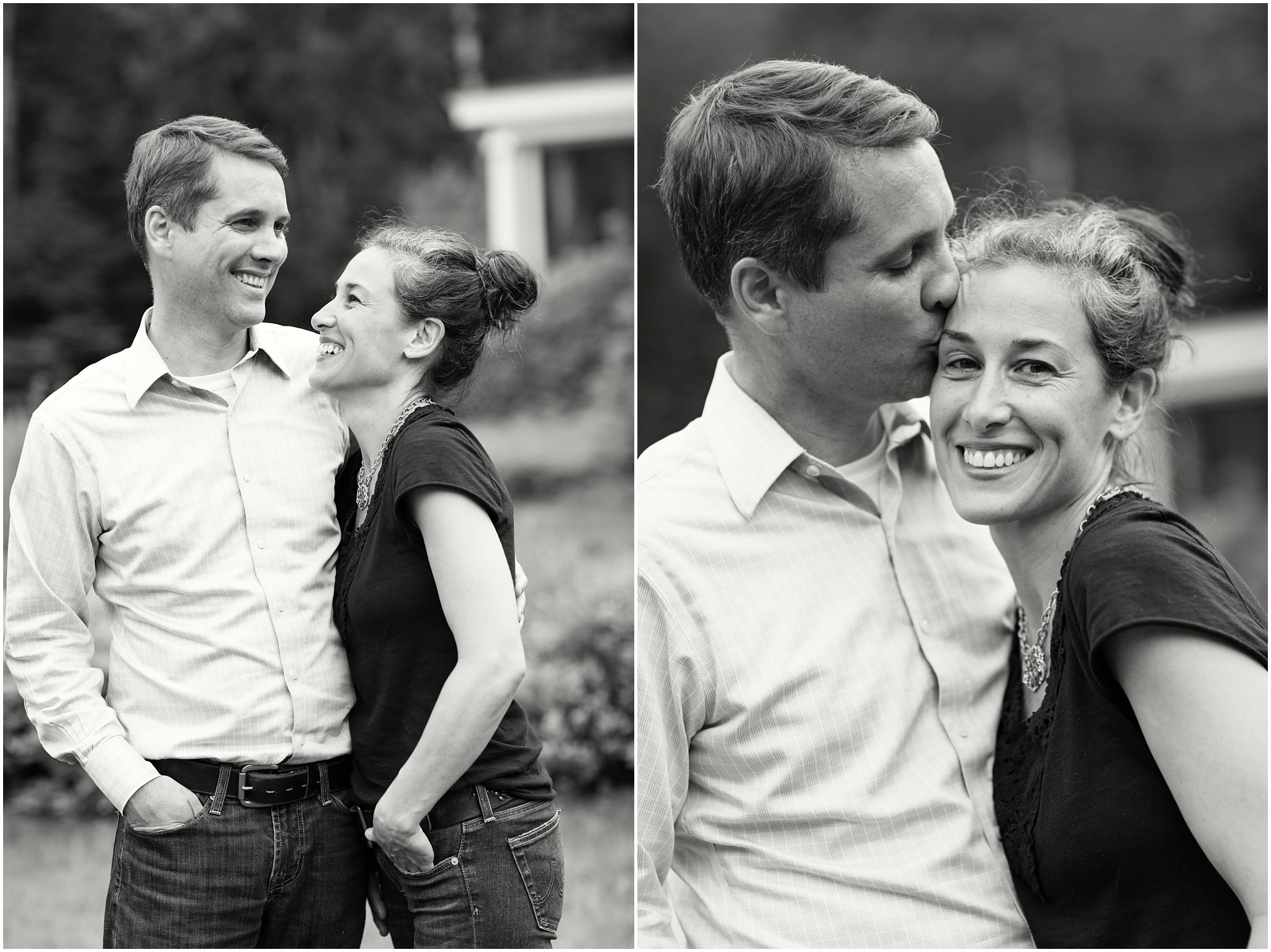 black and white portraits of a couple