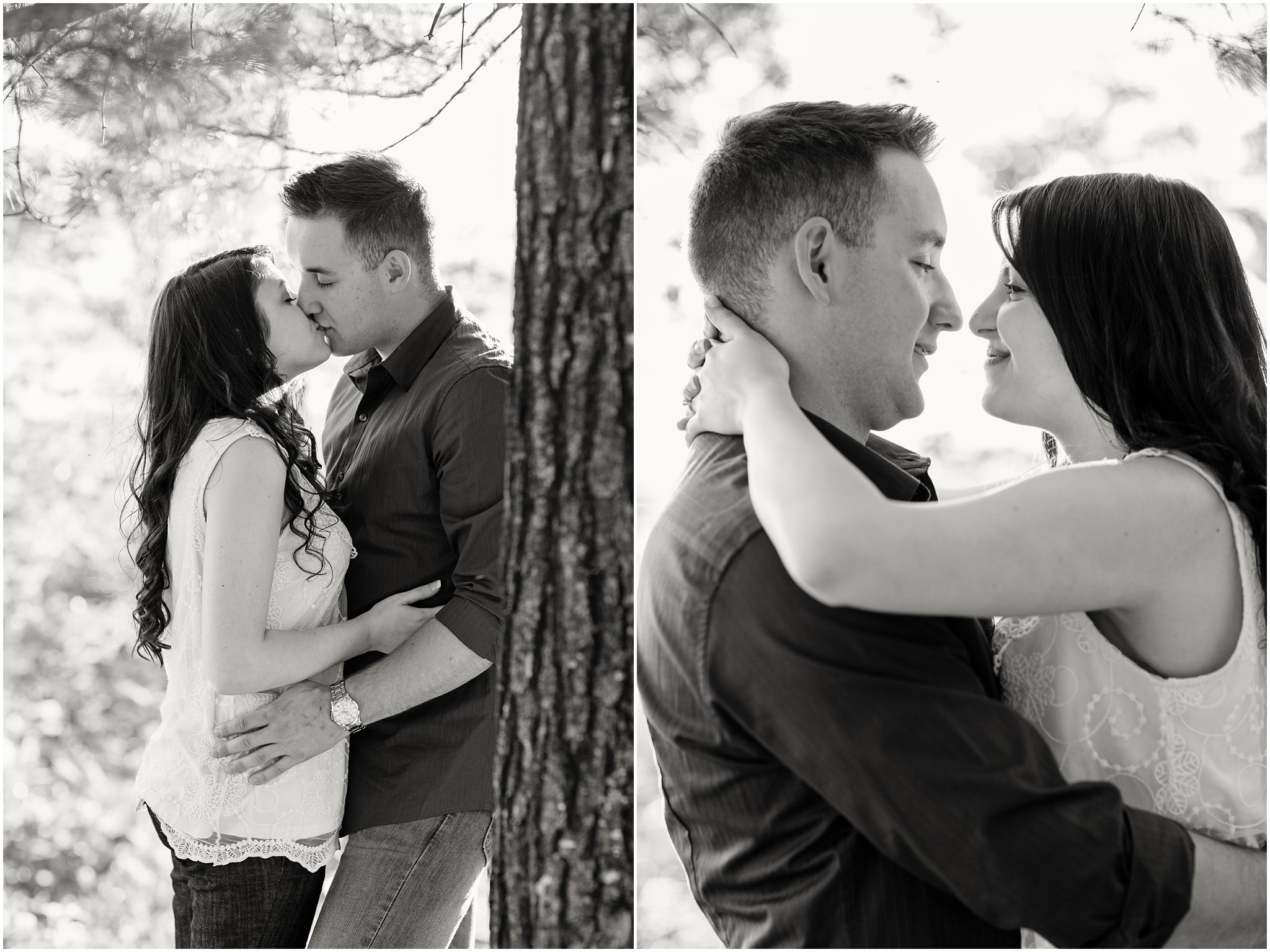Black & White Engagement Portraits
