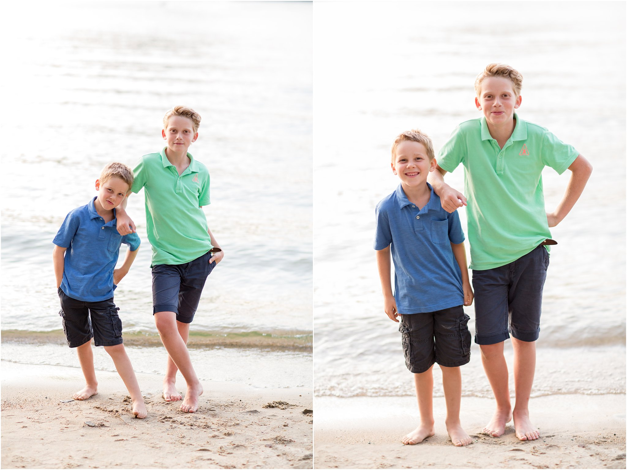 Boys on a Beach in New Hampshire