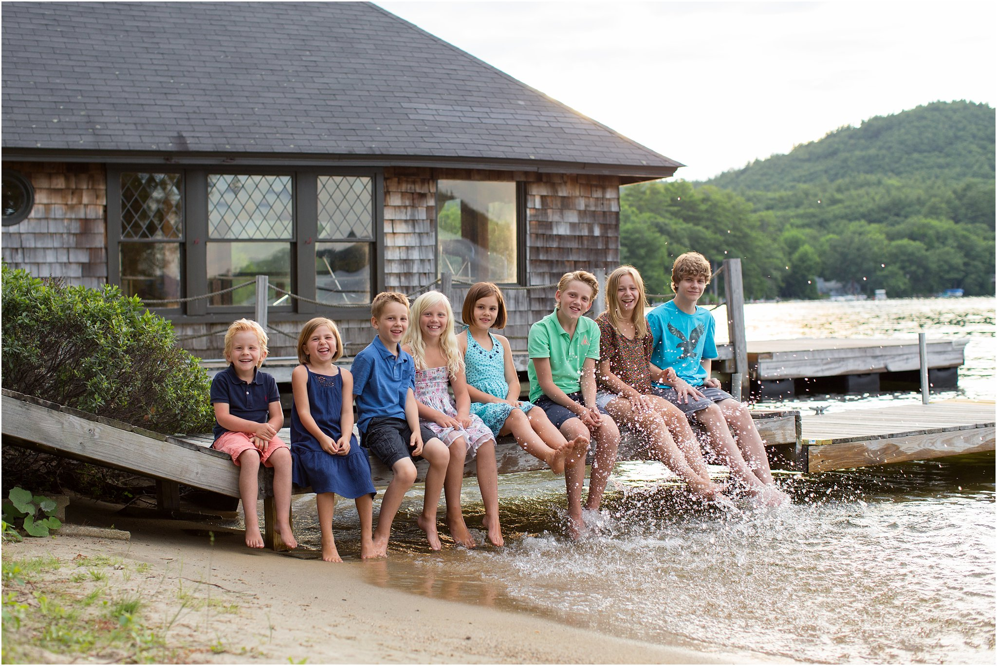Children on a Dock in NH