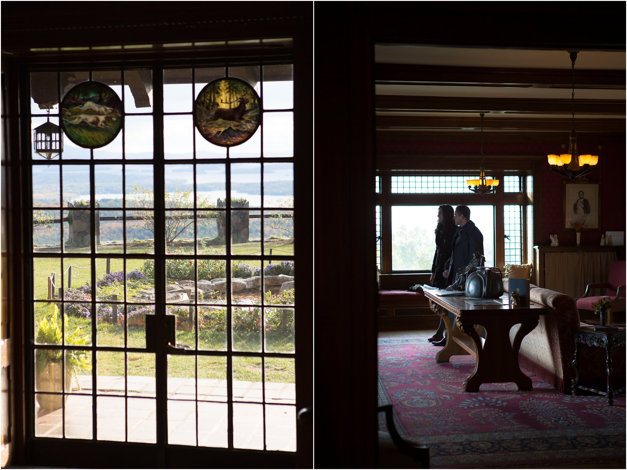 Garden doors and interior at Castle in the Clouds