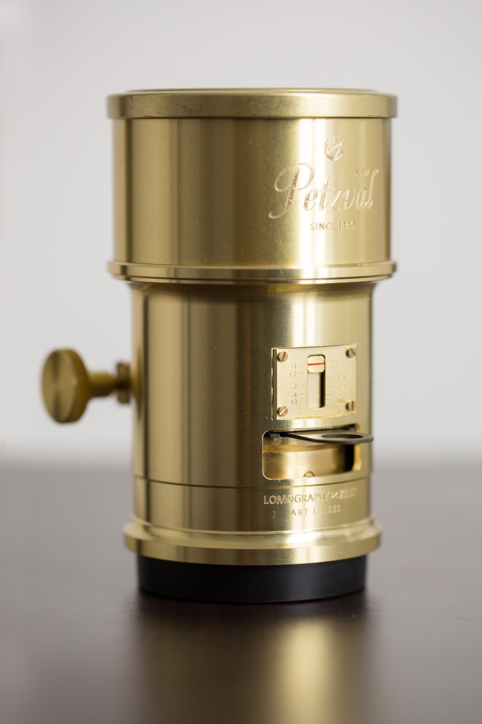 The Lomography Petzval brass Art lens