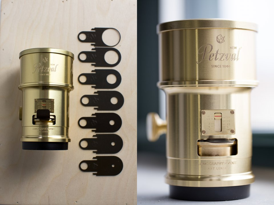 Lomography Petzval Lens with Aperture Rings