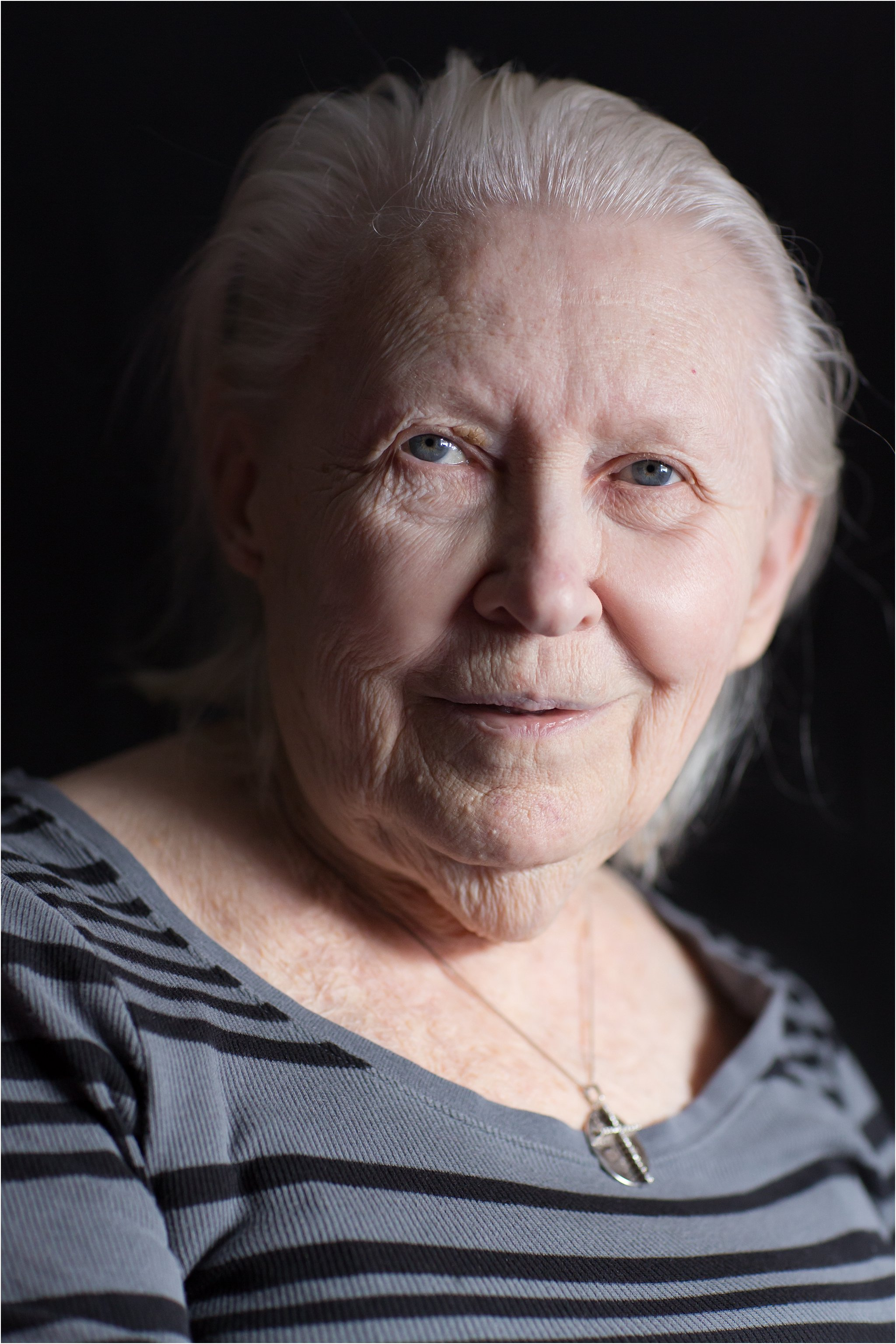 Portrait of Elderly Woman with Black Background II