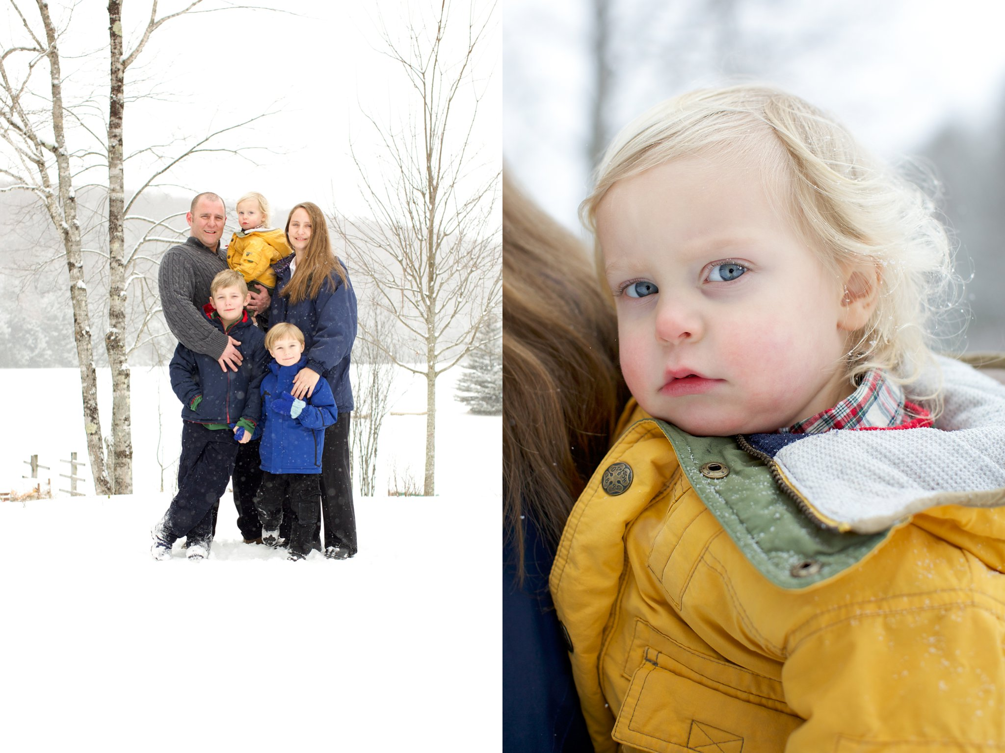 Family photos in winter