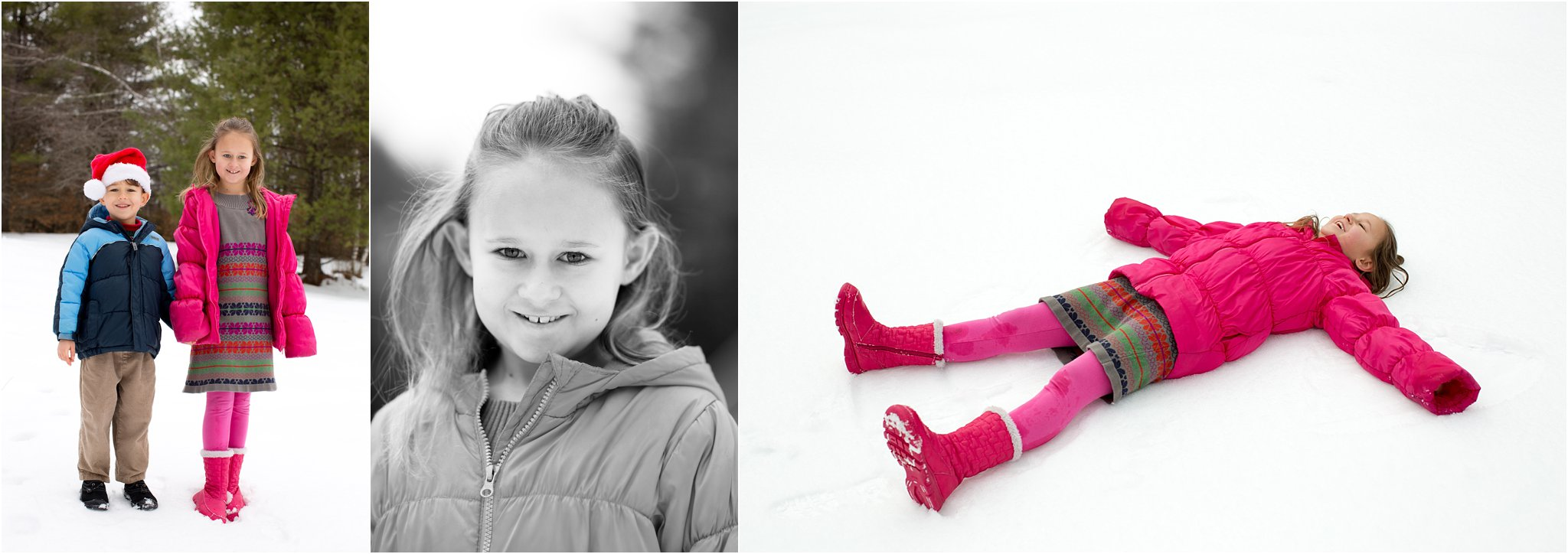 Outdoor photos of children in winter