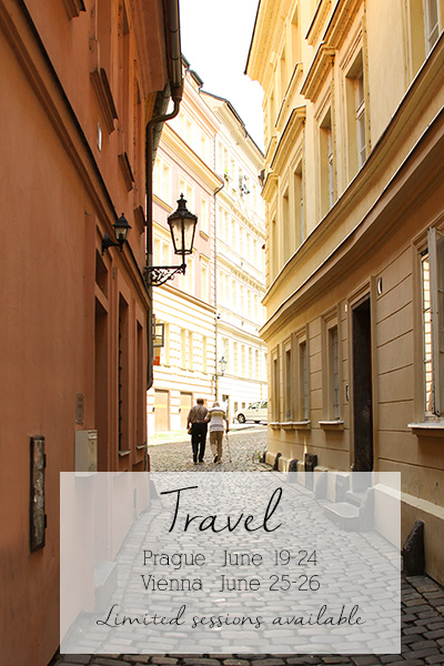 Prague City Street with Travel Dates
