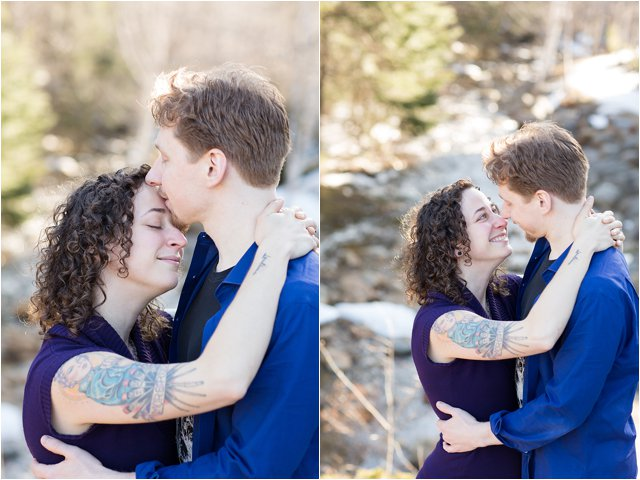 Engaged Couple in Waterville Valley, NH