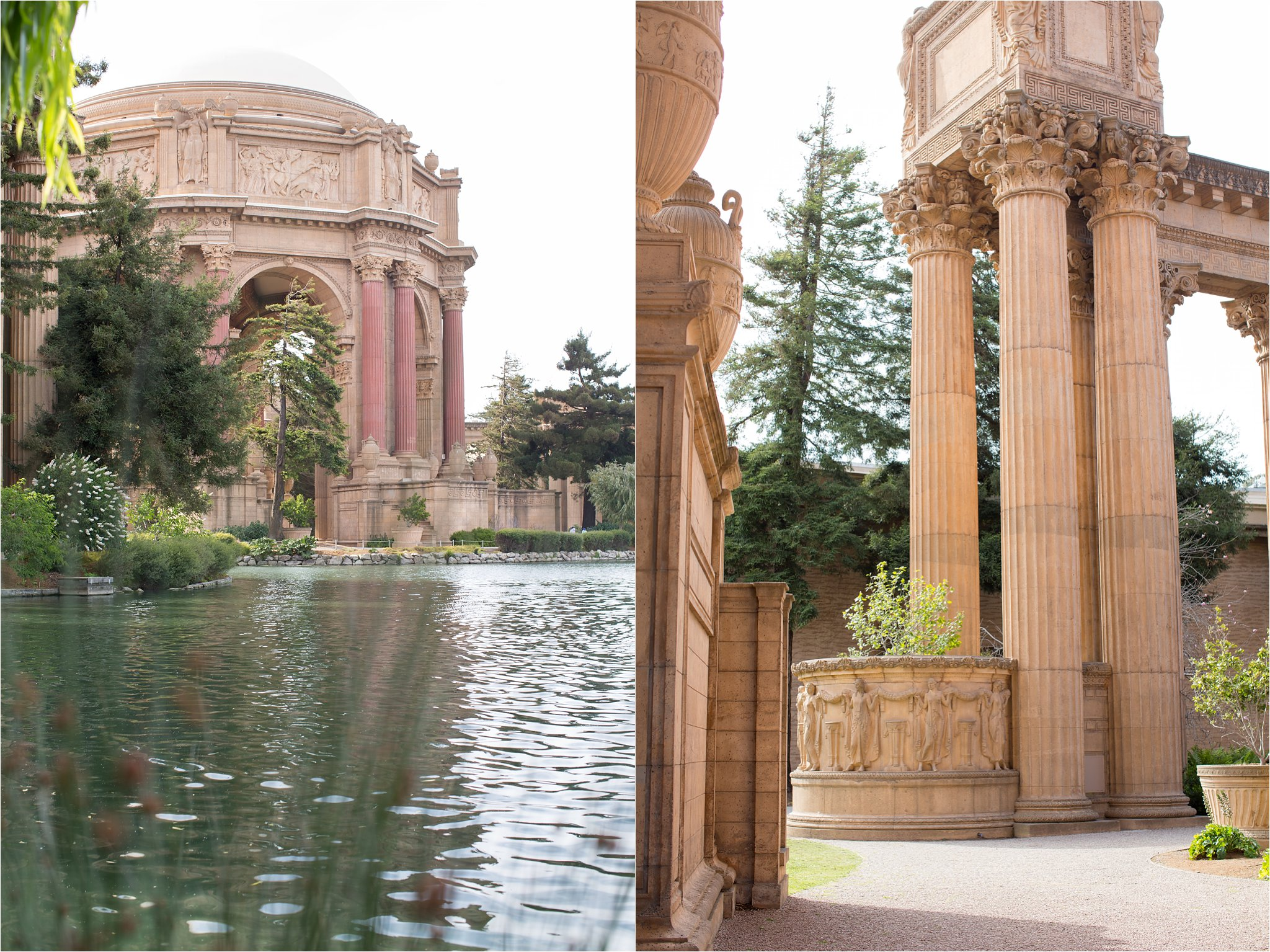 Palace of Fine Arts Pond and Columns