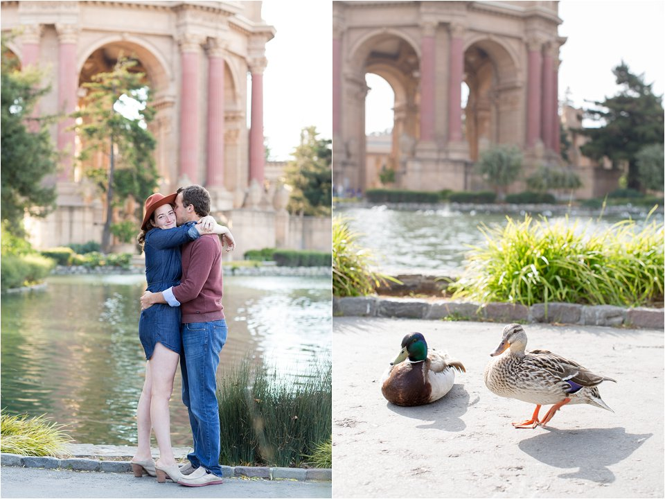 Engaged Couple and Ducks