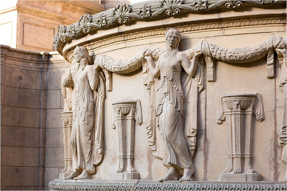 Detail at the Palace of Fine Arts, San Francisco