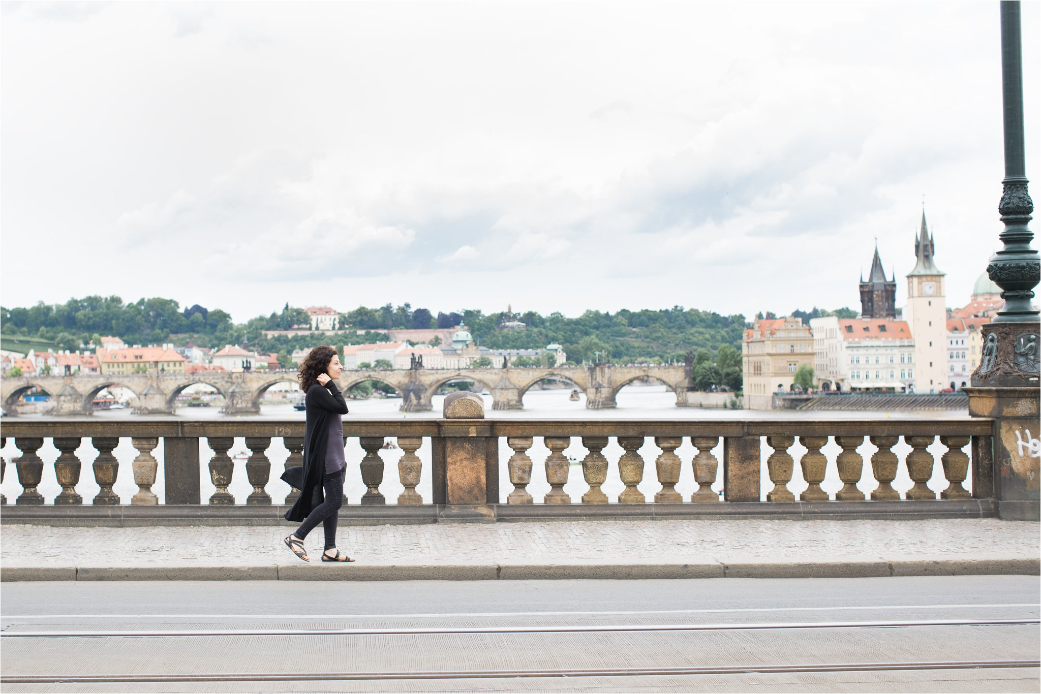 Crossing the Legion Bridge in Prague (C) Maundy Mitchell