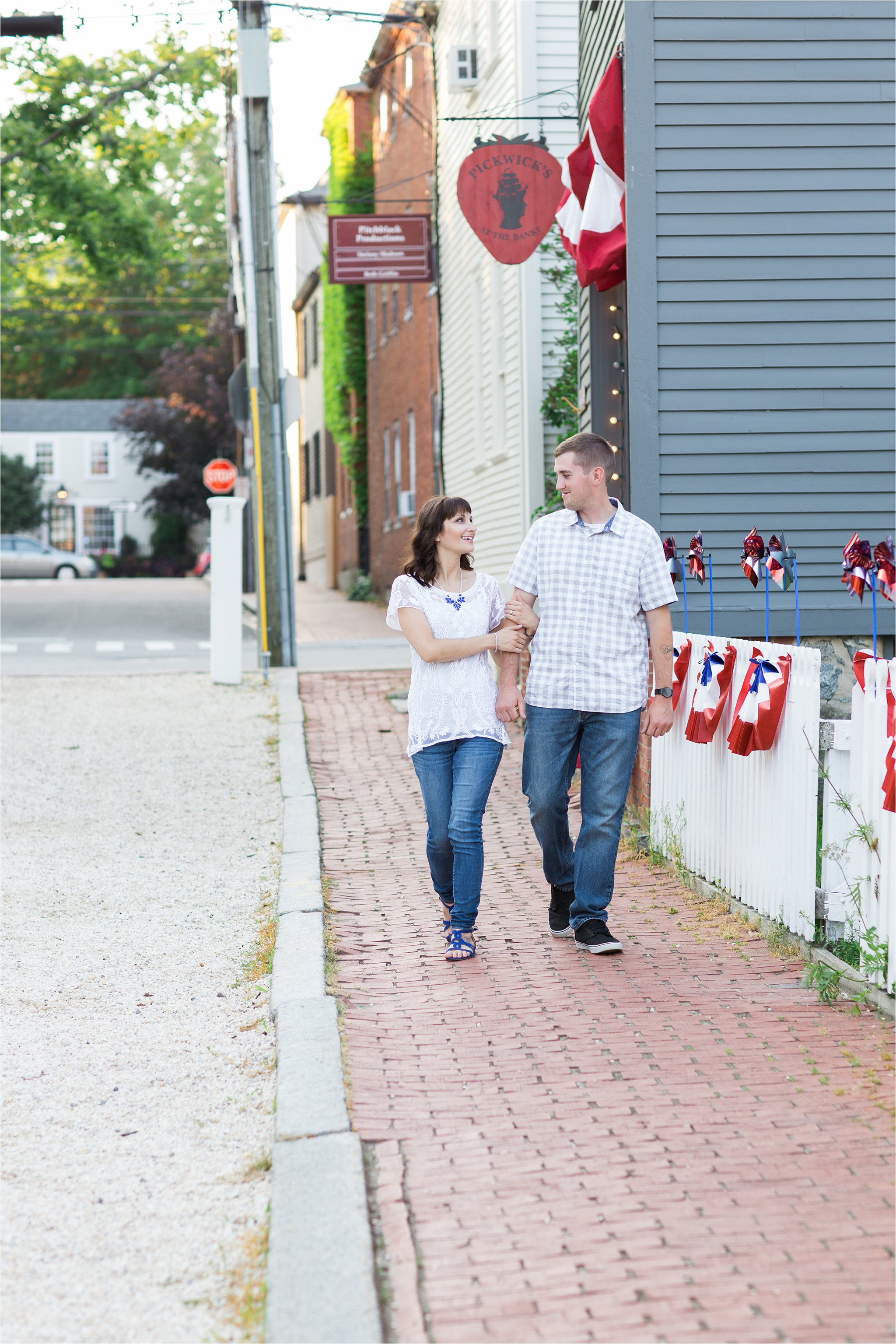 Couple Walking in Portsmouth, NH (C) Maundy Mitchell
