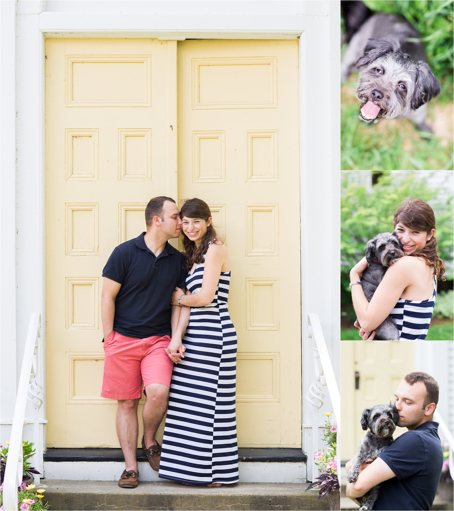 Engagement Photos with Dog and Yellow Door © 2015 Maundy Mitchell_0024.jpg
