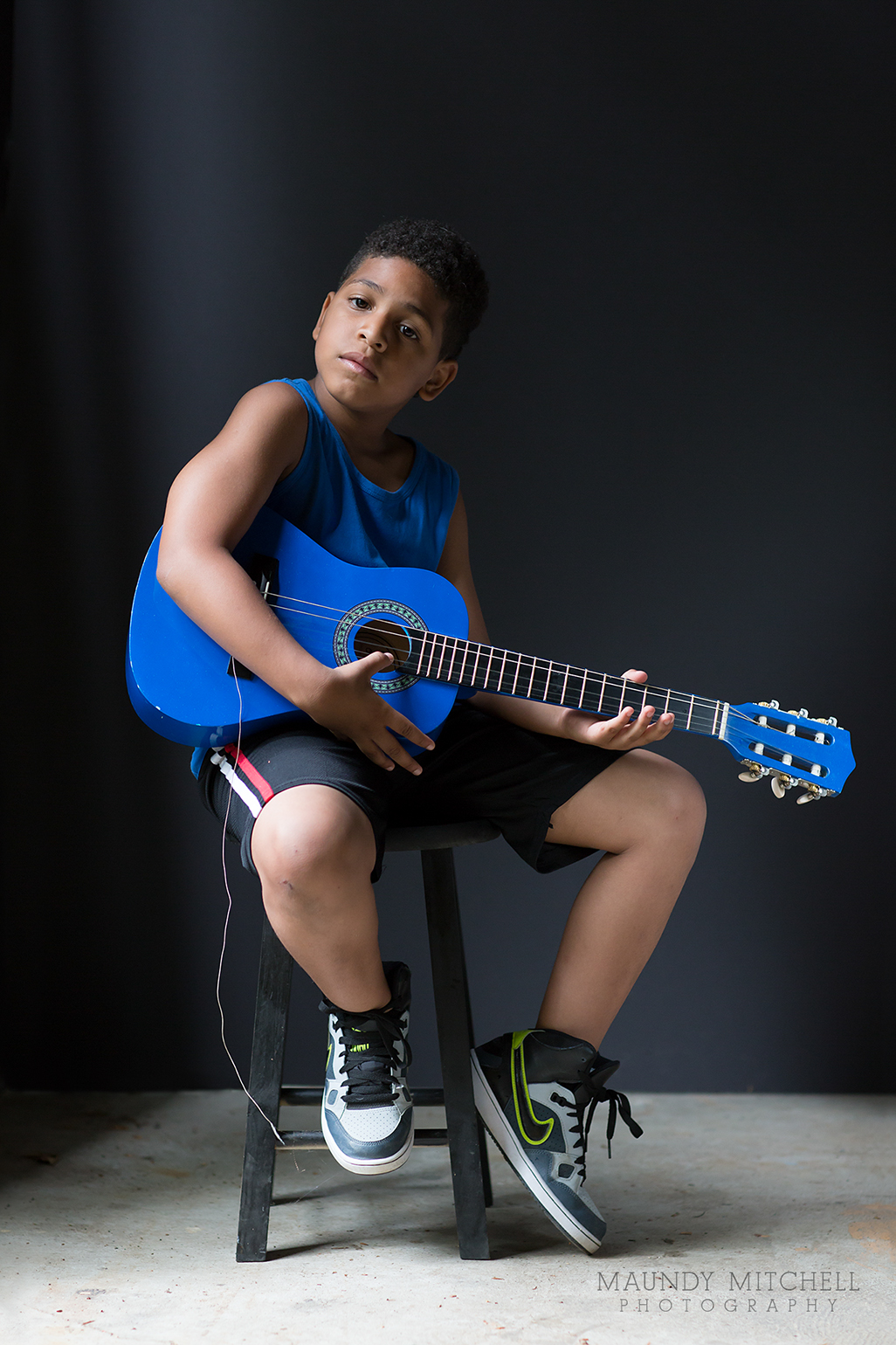 Boy With a Blue Guitar © Maundy Mitchell