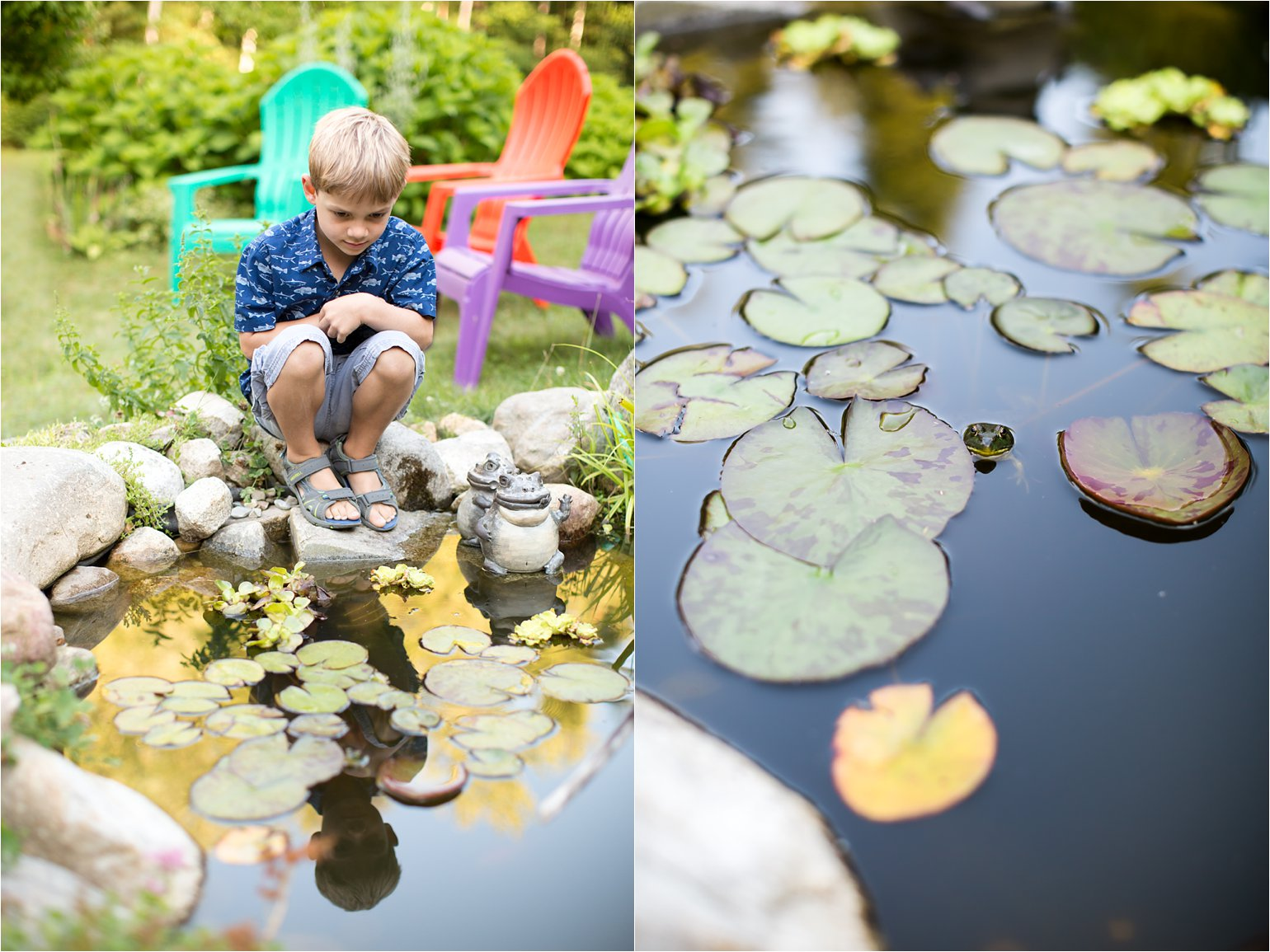 Boy at Frog Pond © 2015 Maundy Mitchell
