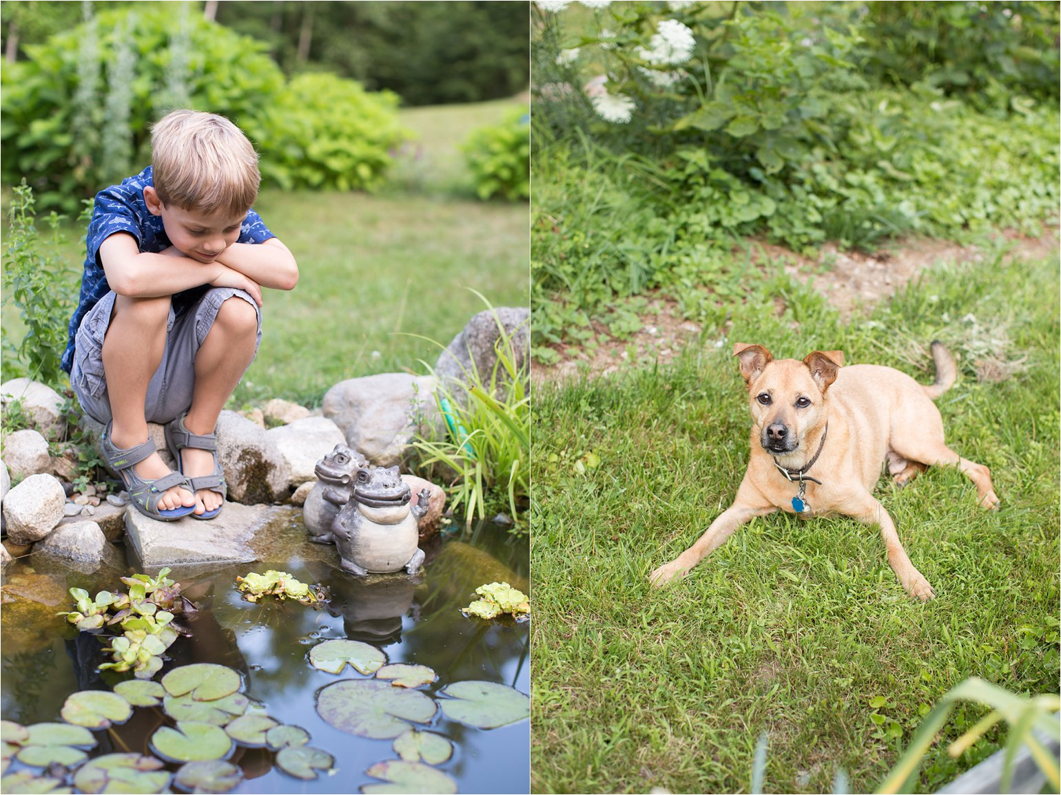 Boy and Dog at Frog Pond © 2015 Maundy Mitchell