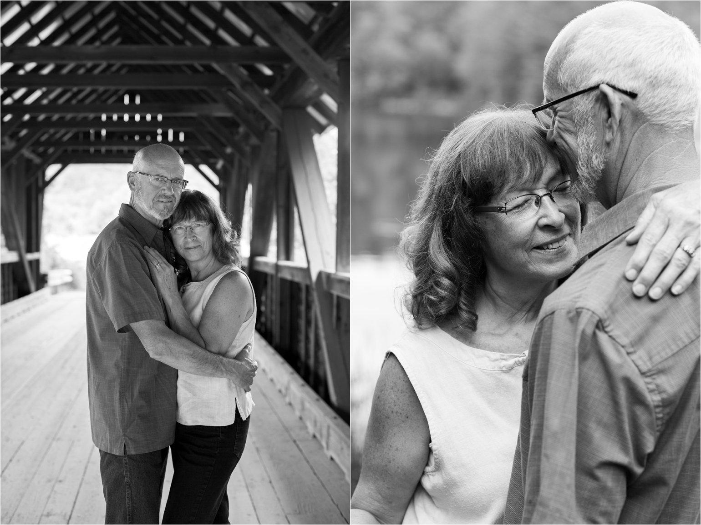 Black & White Photos at Covered Bridge (C) Maundy Mitchell
