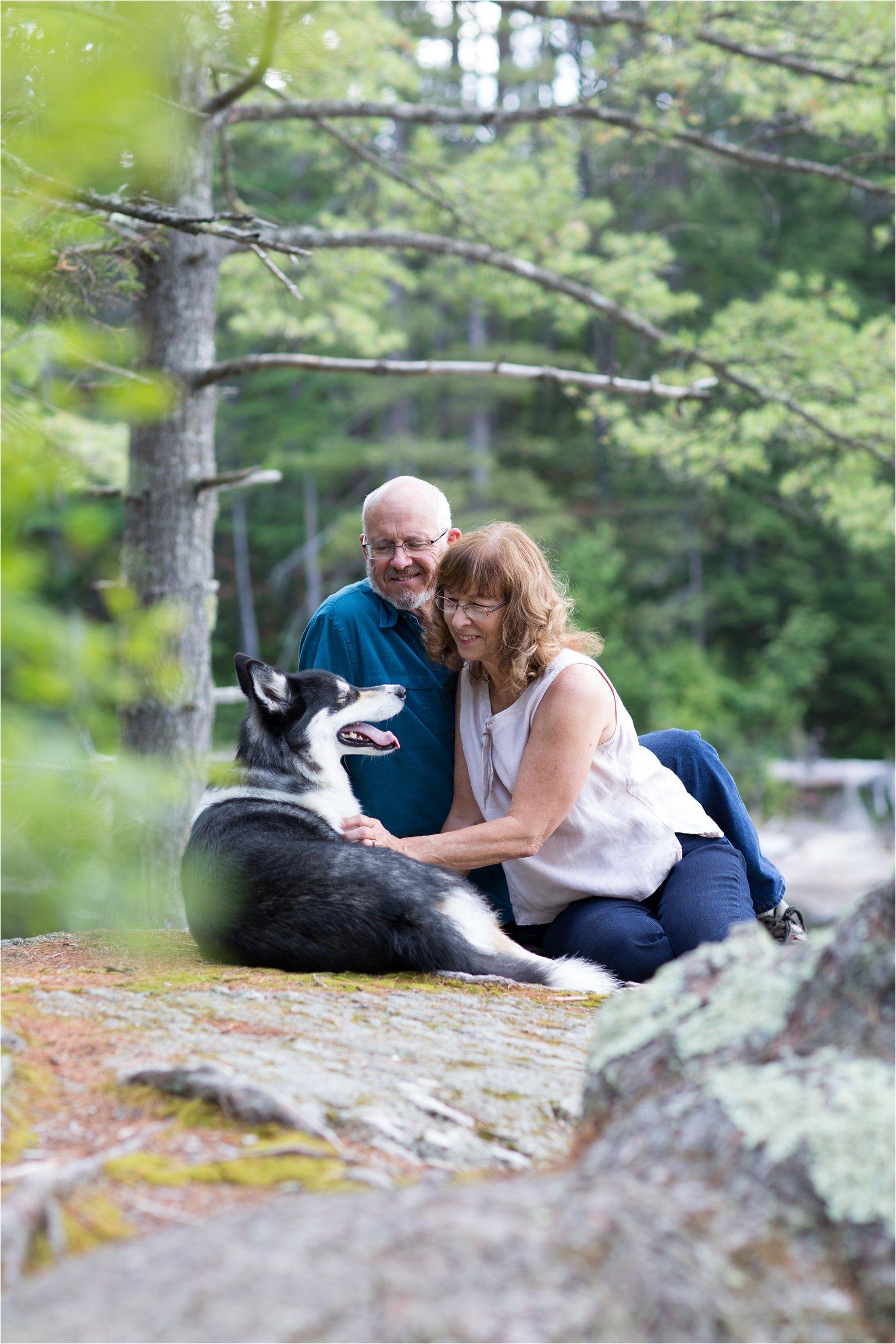 Couple Sitting with Dog (C) Maundy Mitchell
