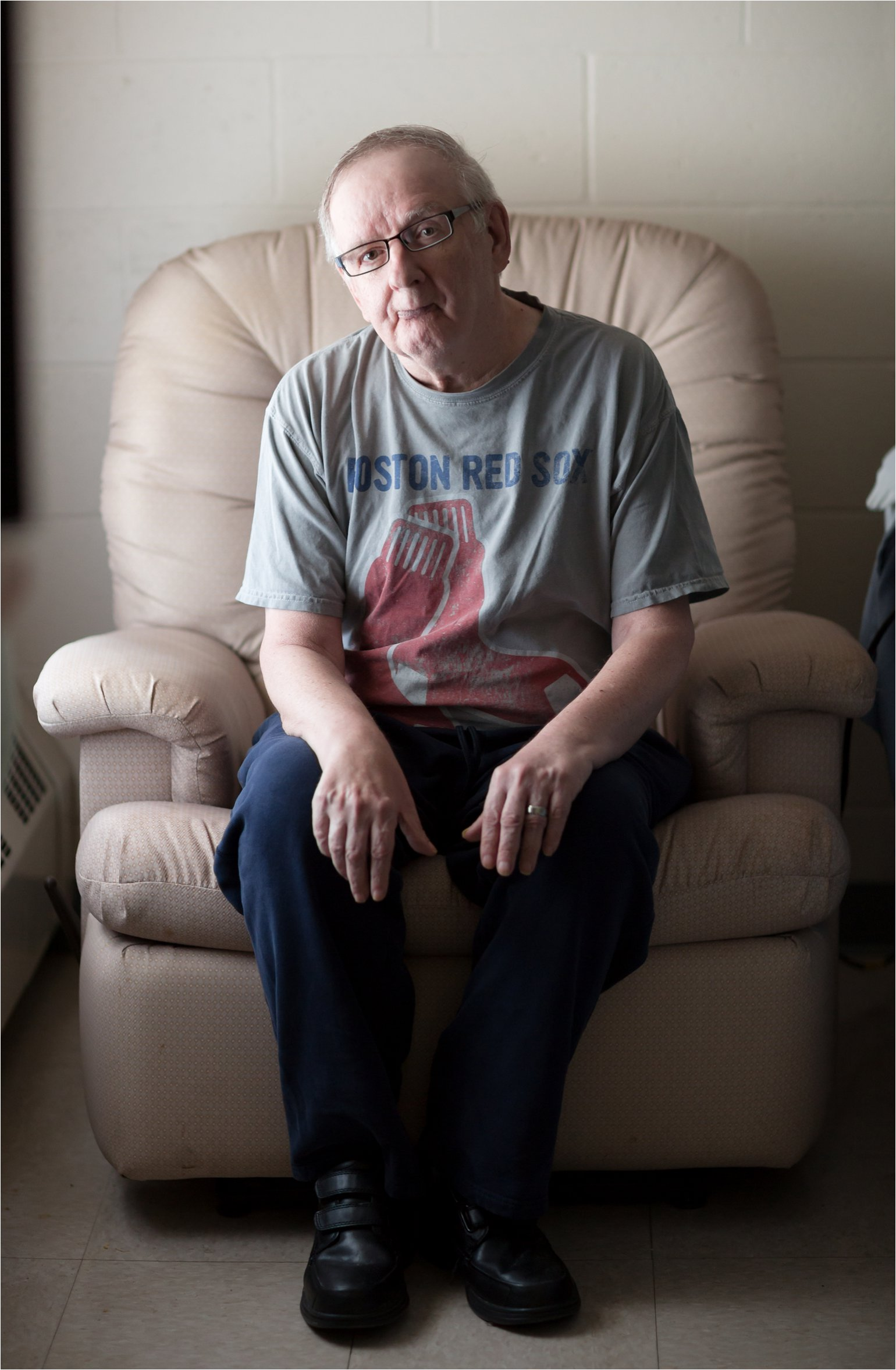Elderly Man in Chair (C) Maundy Mitchell