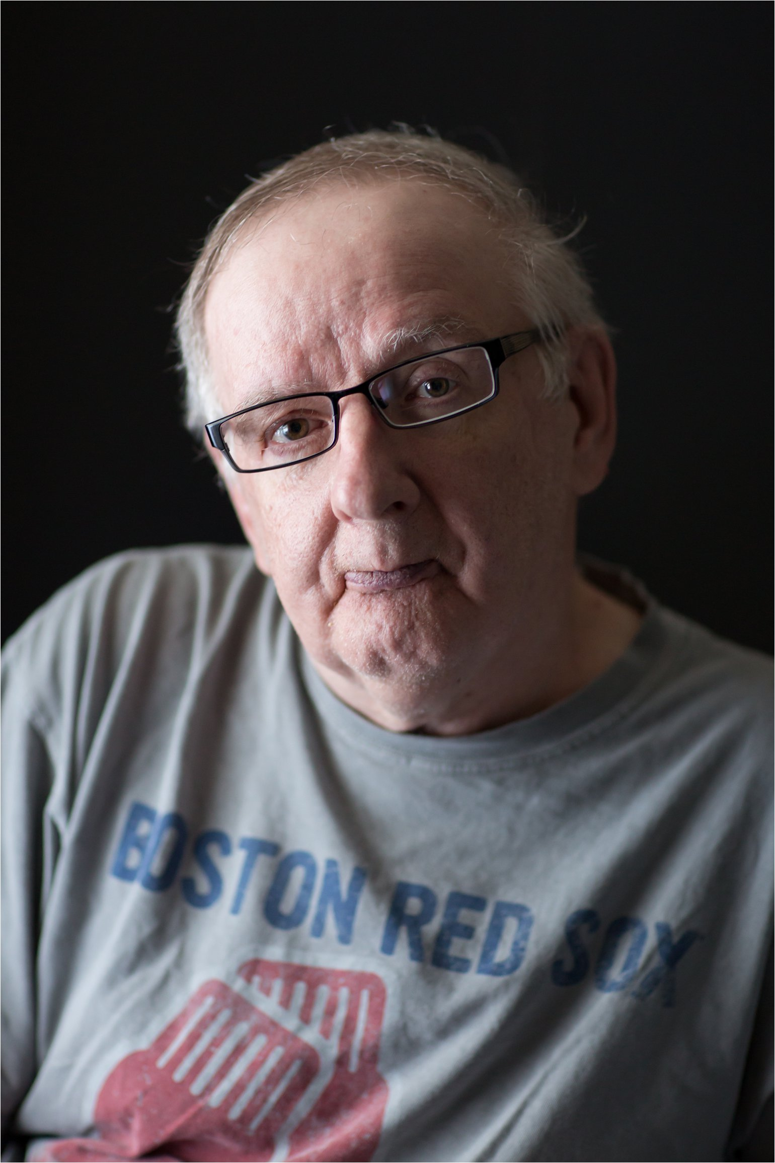 Portrait of Man Wearing Red Sox Shirt (C) Maundy Mitchell