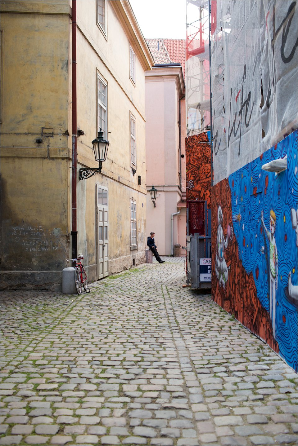 Street with Grafitti  in Prague (C) Maundy Mitchell