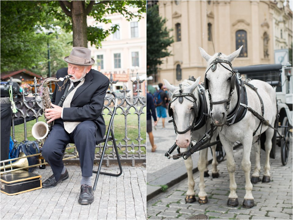 Musician and Horses in Prague (C) Maundy Mitchell