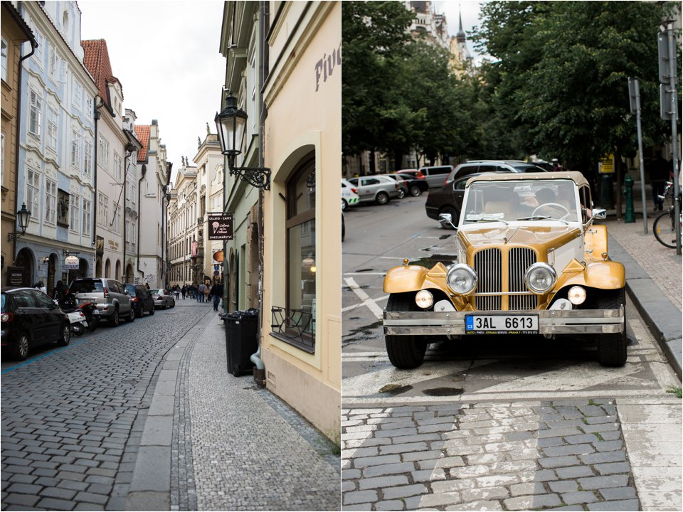Street & Old Car in Prague (C) Maundy Mitchell