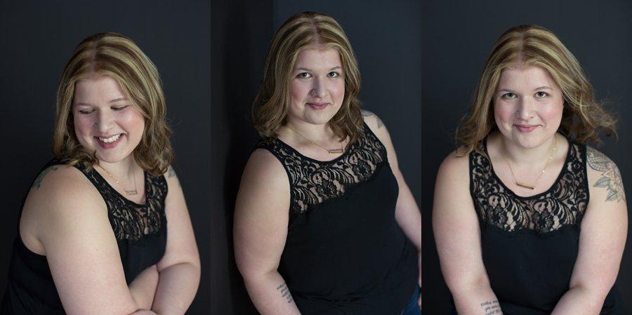 Portraits of Sarah in Black