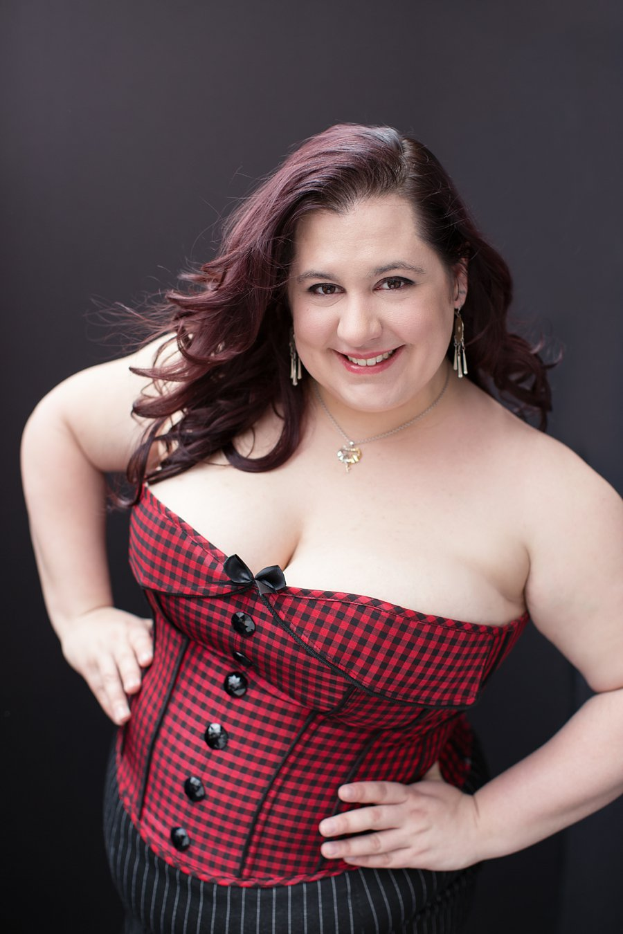 Portrait of Danee in Plaid Corset_0001