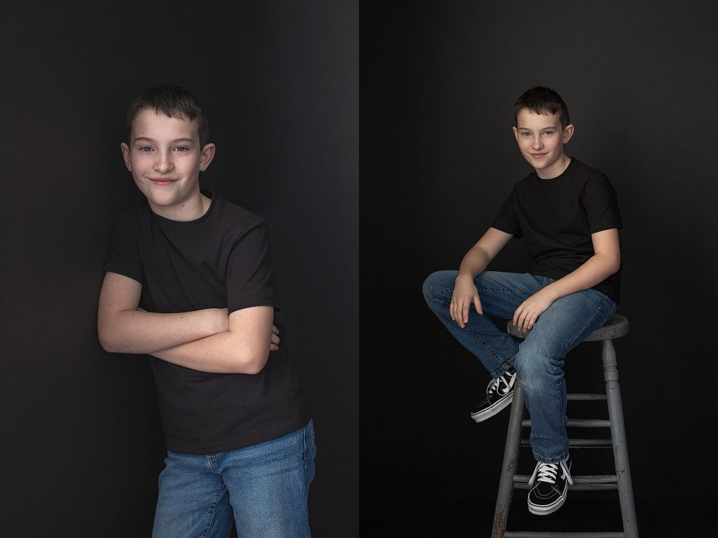 Casual portraits of a 9-year-old boy