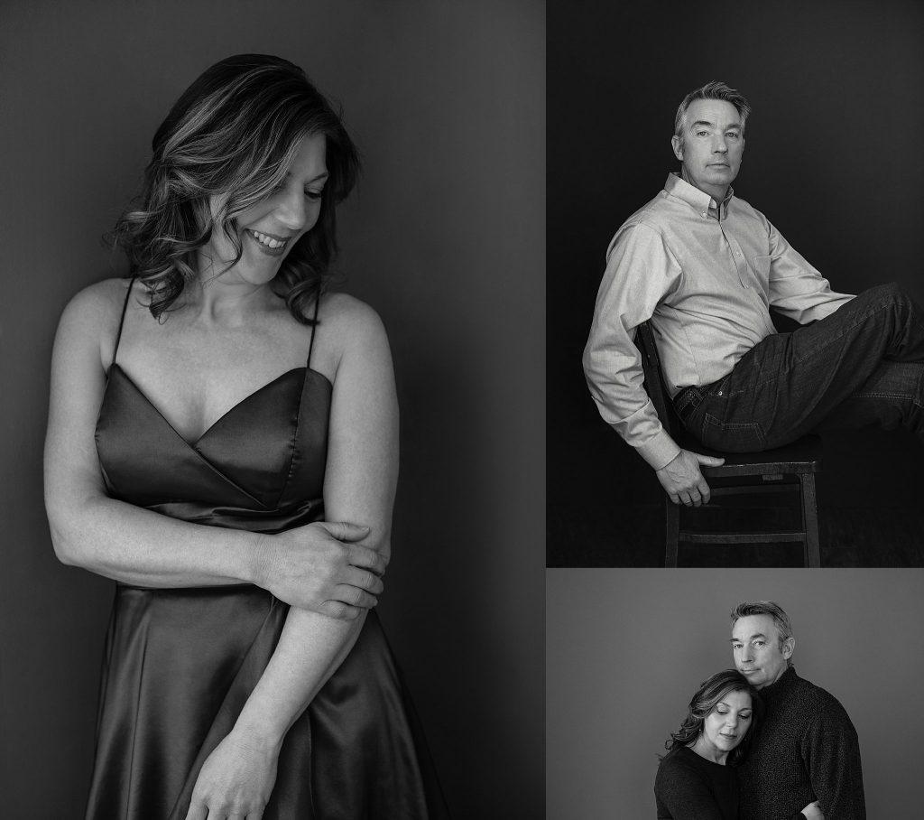 Black and white studio portraits in New Hampshire