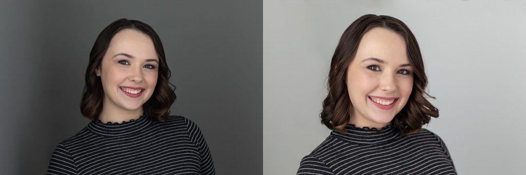 "Headshots of Samantha ""Sammy"" Ryan, Graphic Designer"