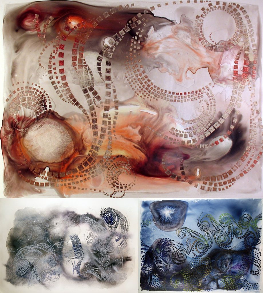 Mixed media prints by Davida Cook