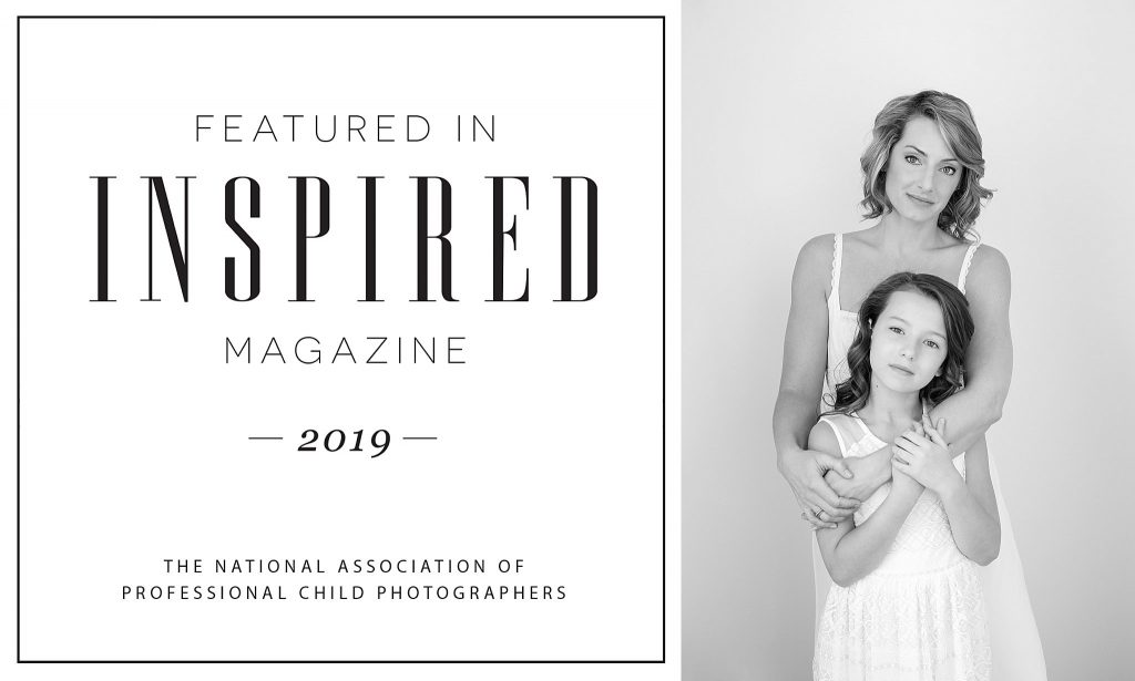Black and white portrait of mother and daughter Lisa and Leah, featured in the Motherhood issue of Inspired Magazine
