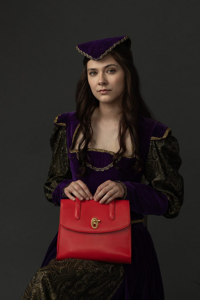Portrait with a Red Purse