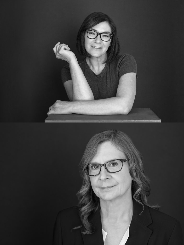 Black and white headshots