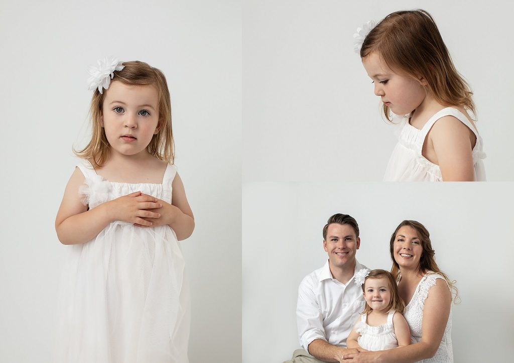 Family portraits in white