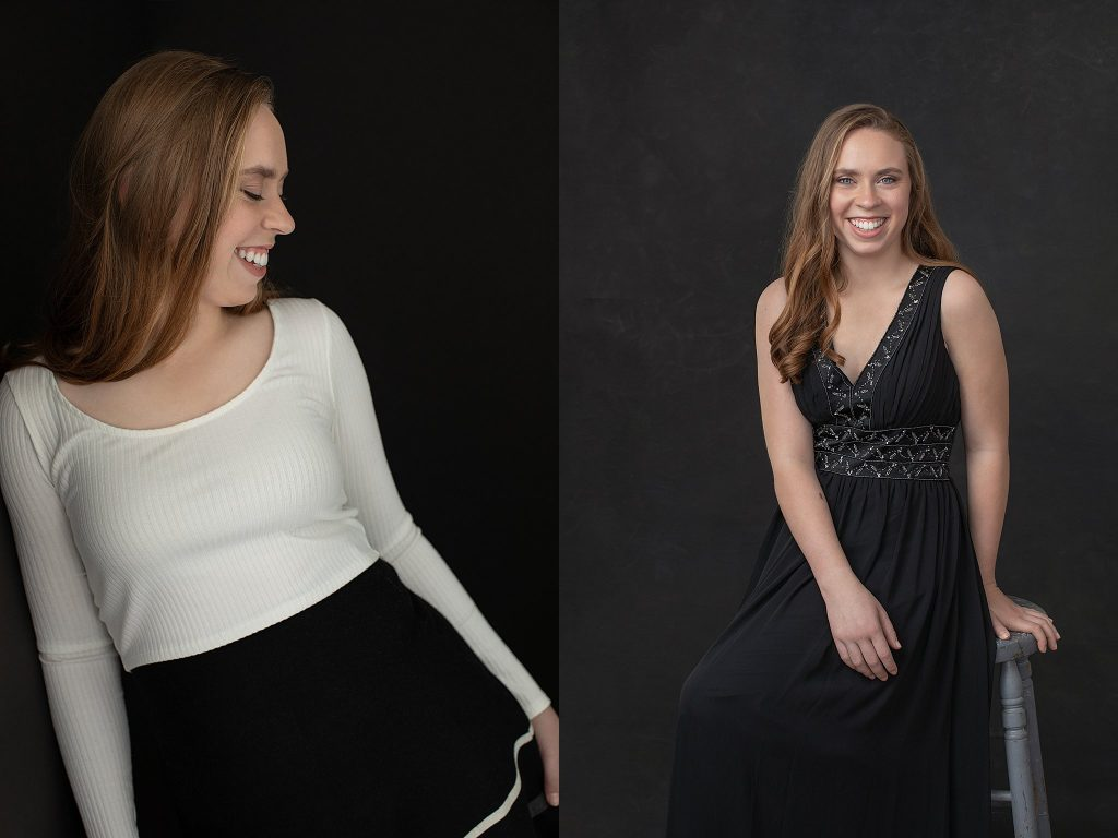 High school senior studio portraits