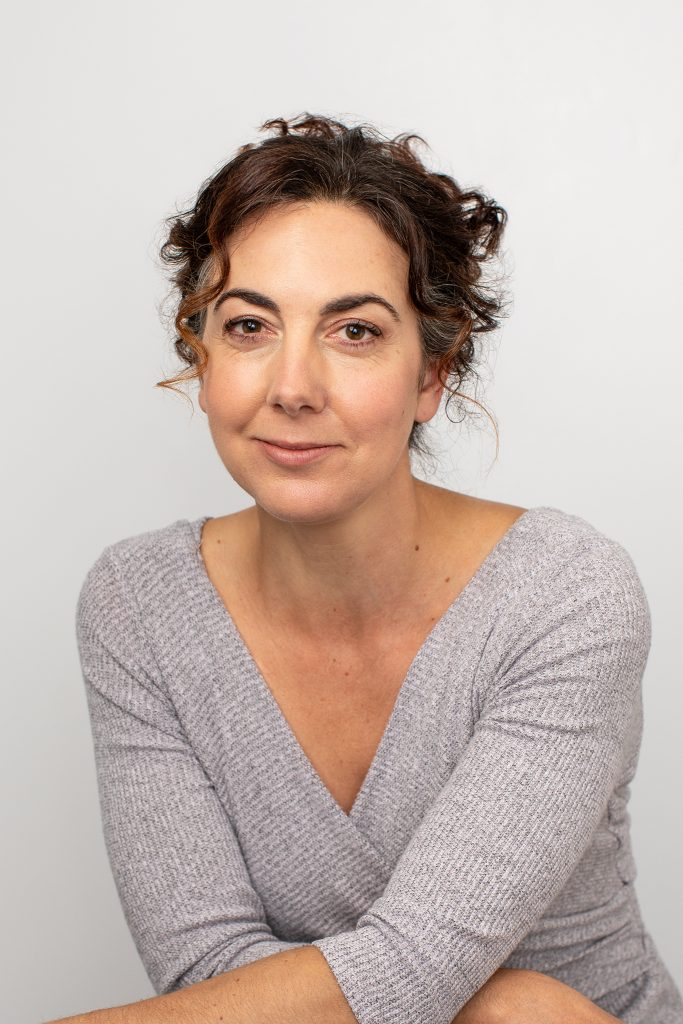 Vertical headshot / personal branding portrait of Kayte