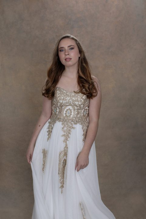 Kenzie in prom gown