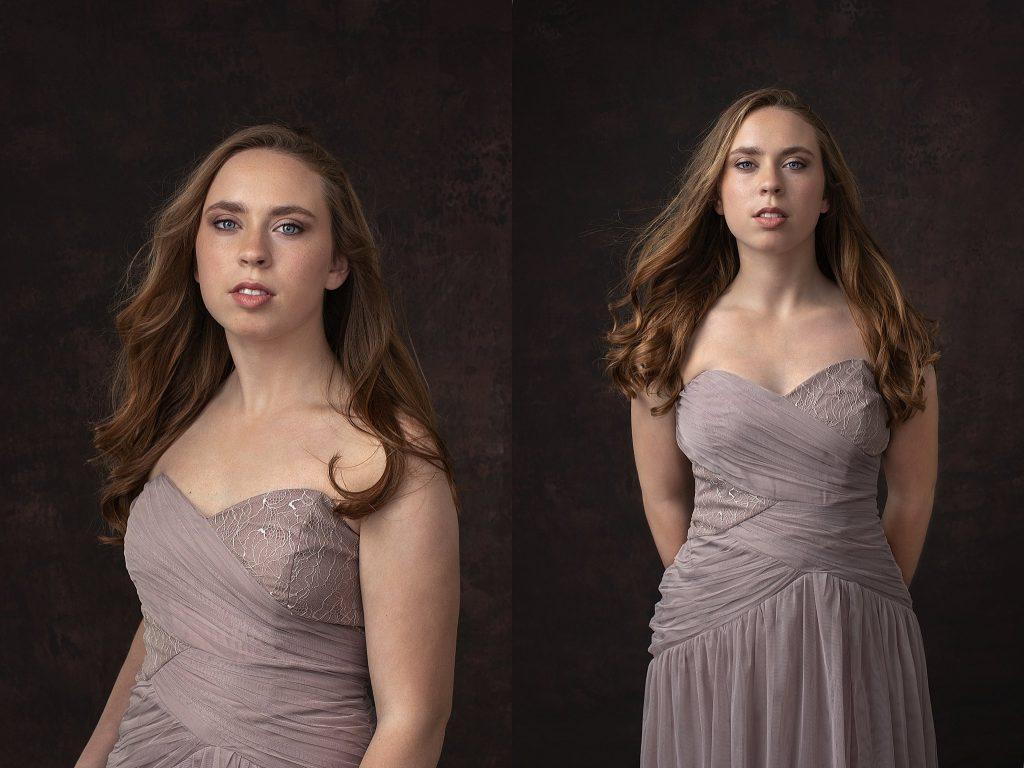 Kenzie in mauve gown II