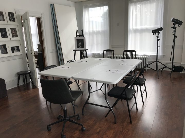 Photo courses in a small group setting in a working photography studio
