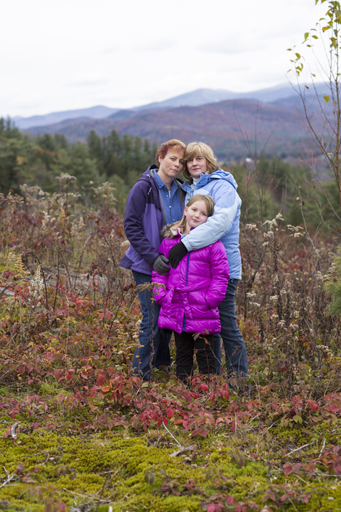 Family Portrait in the White Mountains