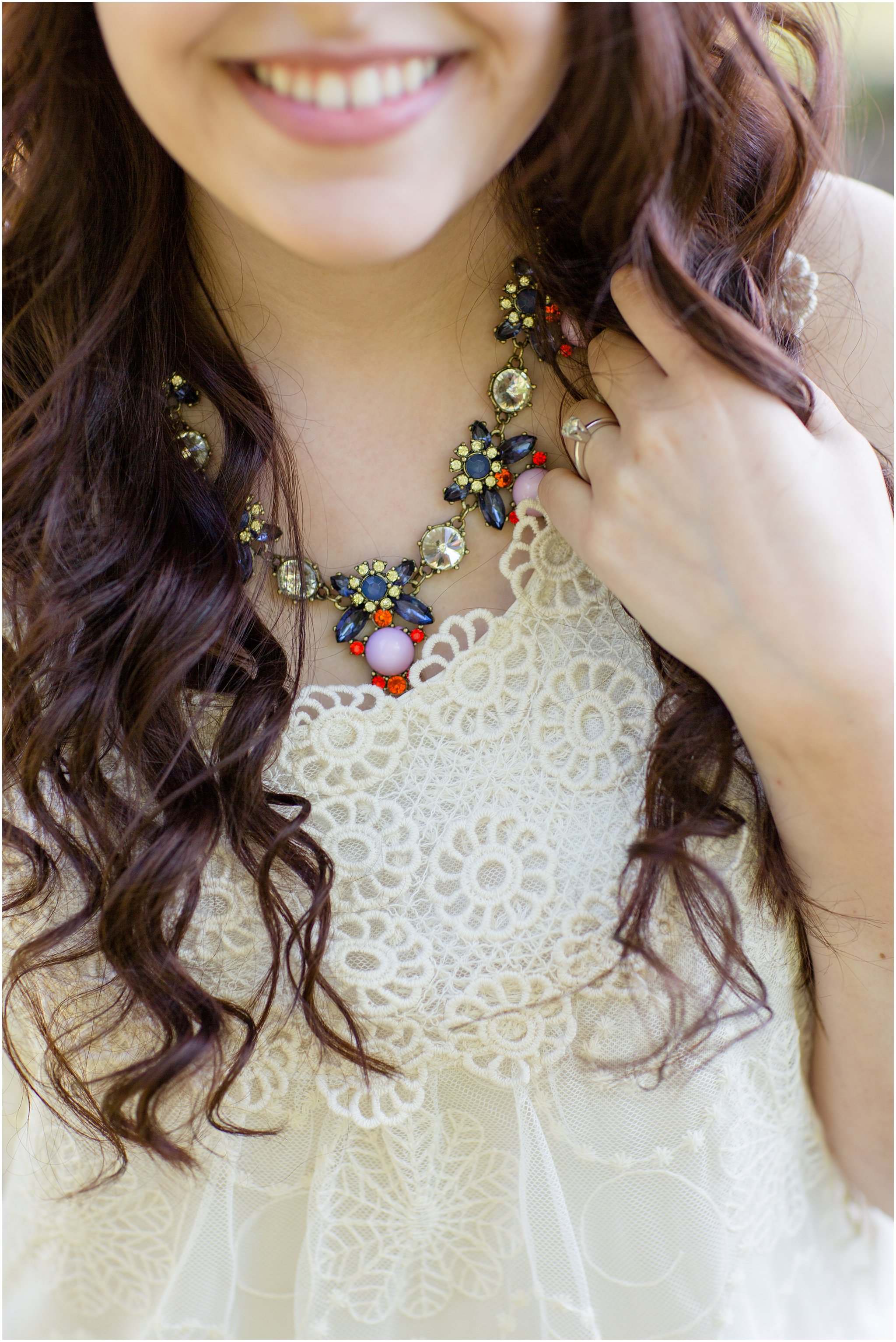 Bride-to-Be - Necklace & Ring Details
