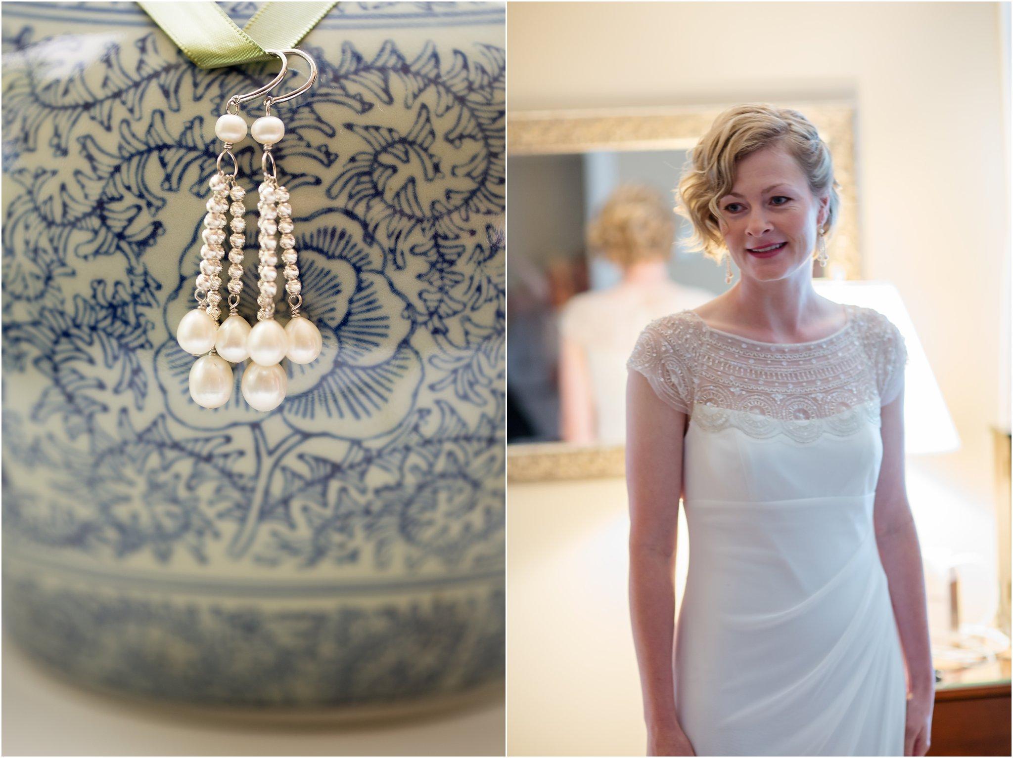 Earrings and Bride in Mirror