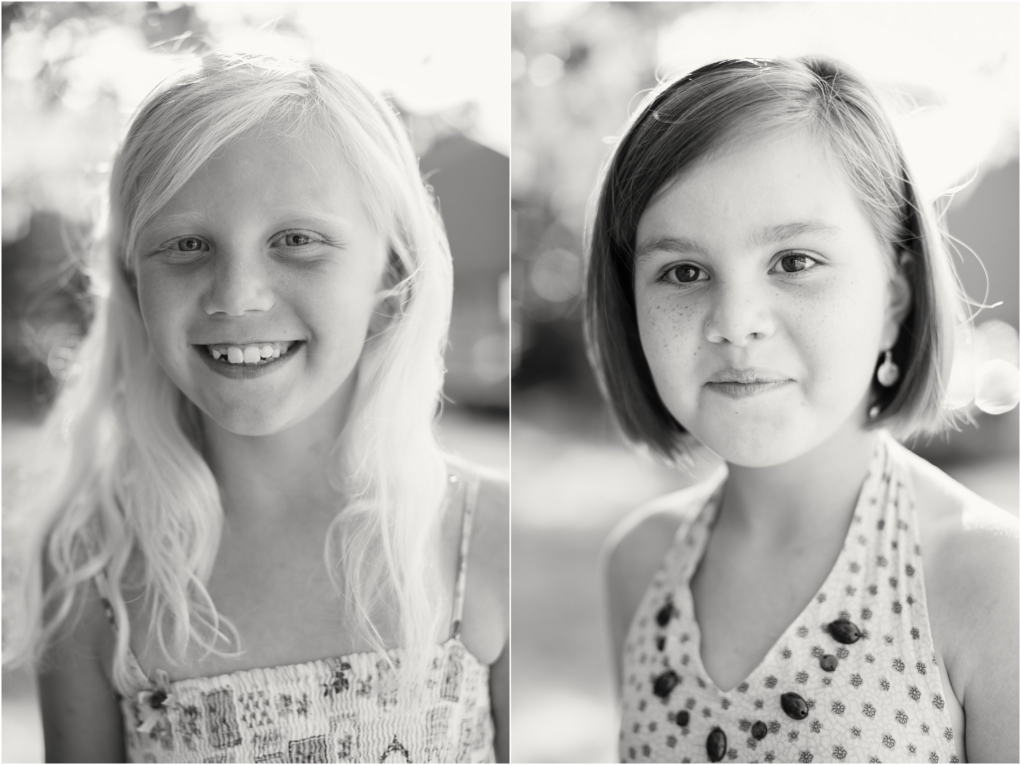 Childrens' Portraits in Black and White 2