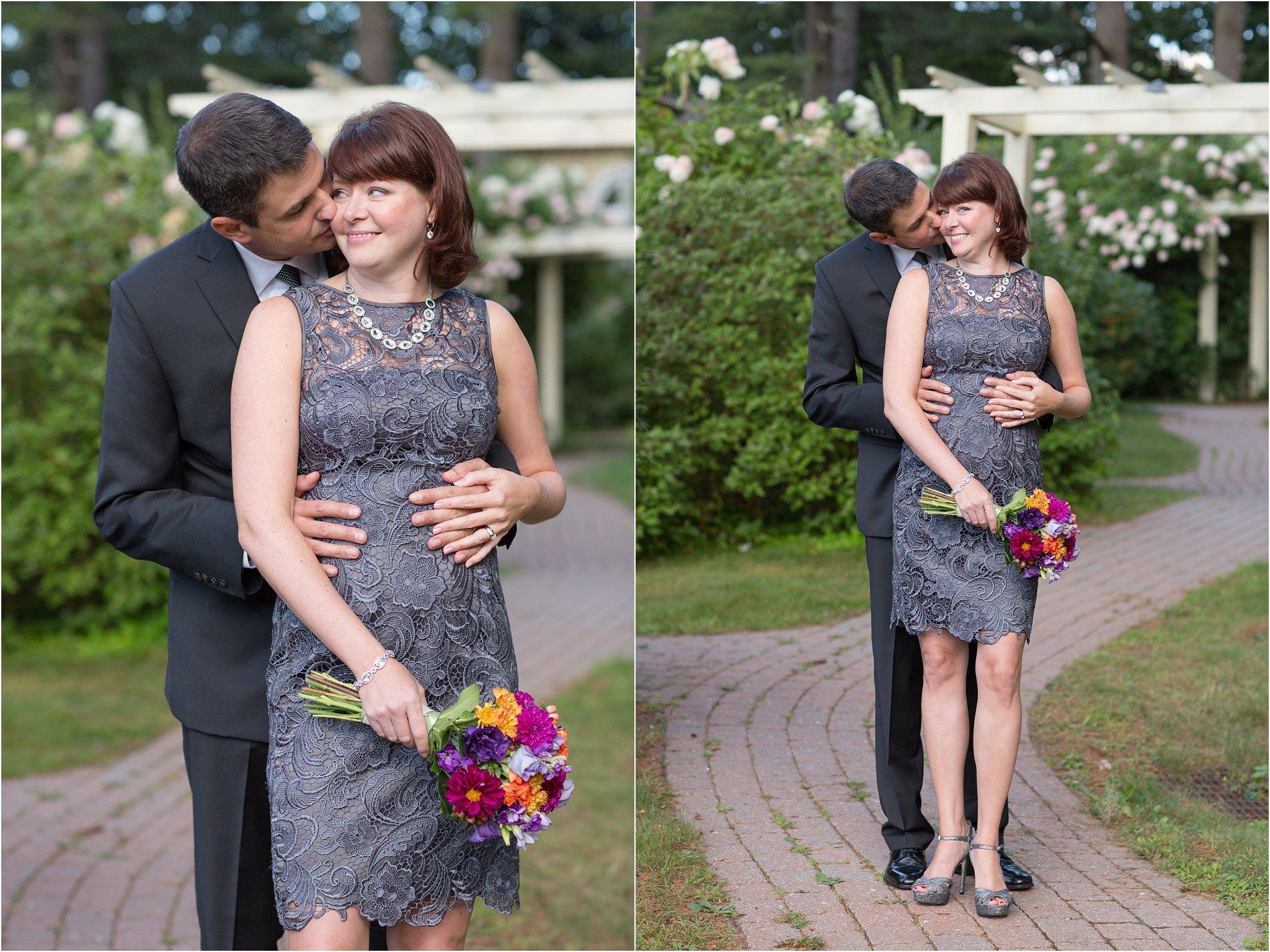 bride and groom garden
